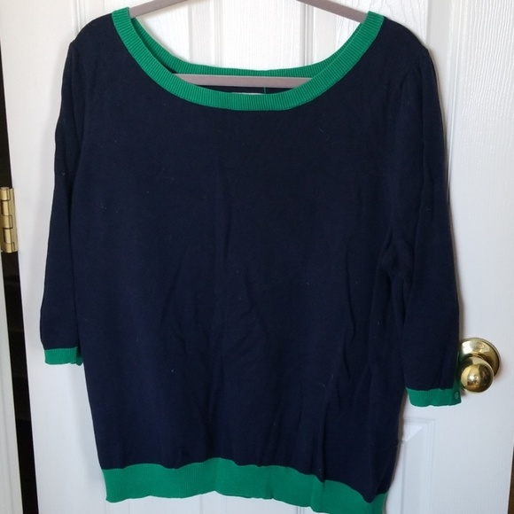 Old Navy Sweaters - Old Navy 3/4 sleeve blue/green sweater XXL